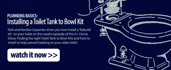 Plumbing Basics: Replacing Your Toilet Tank to Bowl Kit